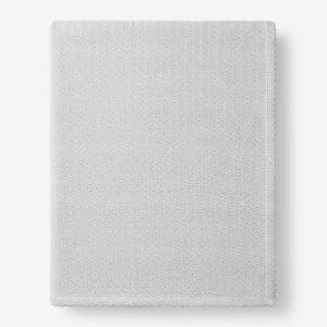 Organic Cotton Gray Solid King Woven Blanket