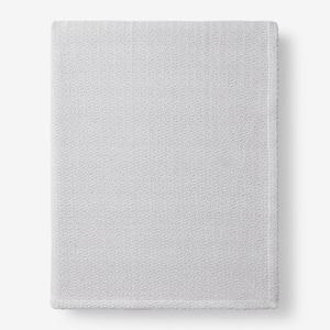 Organic Cotton Gray Solid Queen Woven Blanket