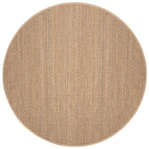 Natural Fiber Tan/Beige 8 ft. x 8 ft. Round Indoor Area Rug