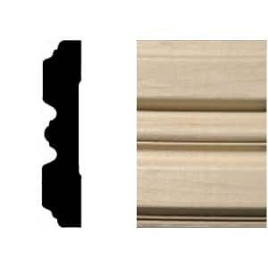 3/4 in. x 3-1/4 in. x 7 ft. Hardwood Wood Fluted Casing/Chair Rail Moulding