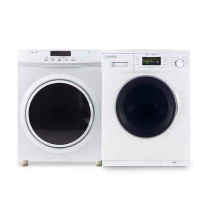 White Laundry Center with 1.6 cu. ft. Washer and 3.5 cu. ft. Electric Dryer