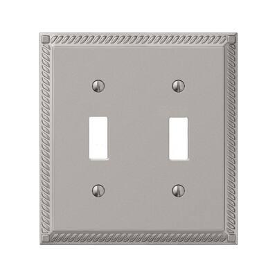 Metallic 2-Gang Toggle Wall Plate (5-Pack)