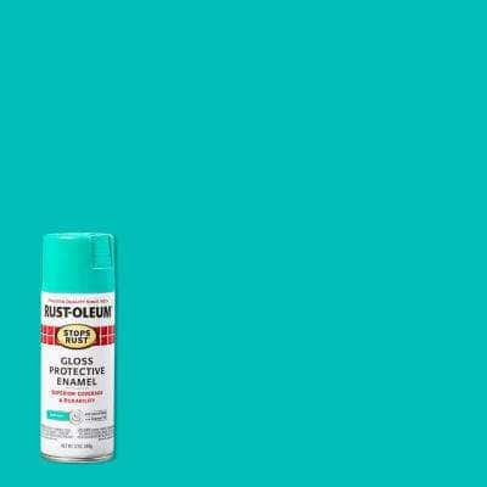 12 oz. Protective Enamel Gloss Deep Mint Spray Paint (6-Pack)