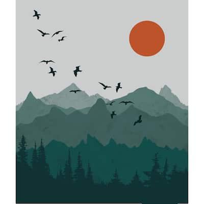 Green Mountain Sun - 68 in. x 80 in. Tapestry