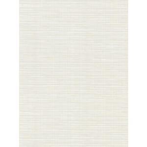 Bay Ridge White Faux Grasscloth White Wallpaper Sample