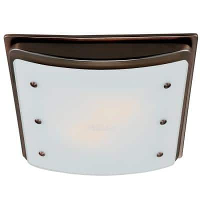 Ellipse Decorative 100 CFM Bathroom Ventilation Fan with Light and Night-Light in Imperial Bronze