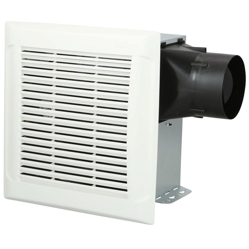 Broan Nutone Roomside Series 110 Cfm Single Speed Ceiling Room Side Installation Bathroom Exhaust Fan In White An110 The Home Depot