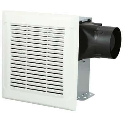 Roomside Series 110 CFM Single Speed Ceiling Room Side Installation Bathroom Exhaust Fan in White