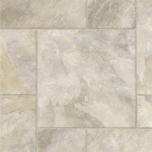 Modular Natural Slate Stone Residential Vinyl Sheet Flooring 12ft. Wide x Cut to Length