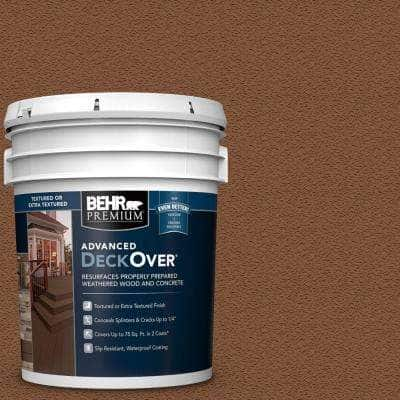5 gal. #SC-152 Red Cedar Textured Solid Color Exterior Wood and Concrete Coating