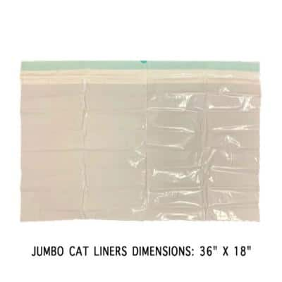 36 in. x 18 in. X-Large Heavy-Duty Cat Litter Box Pan Liners (7 Liners-Box)