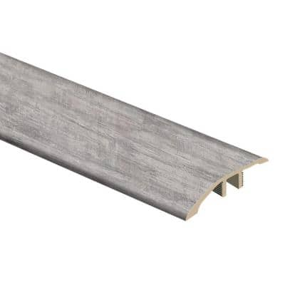 Brushed White 1/3 in. Thick x 1-13/16 in. Wide x 72 in. Length Vinyl Multi-Purpose Reducer Molding