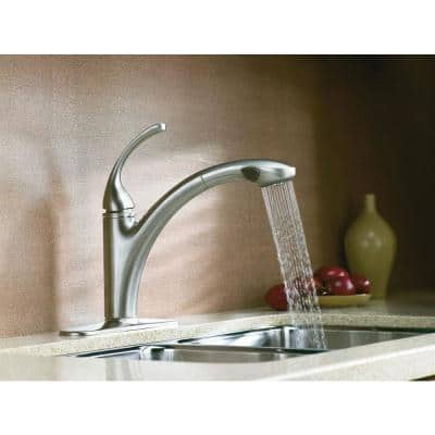 Forte Single-Handle Pull-Out Sprayer Kitchen Faucet With MasterClean Spray Face In Vibrant Stainless