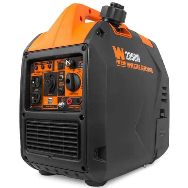 WEN 56235i Quiet Ultra Light 2350W Portable Inverter Generator with Fuel Shut Off