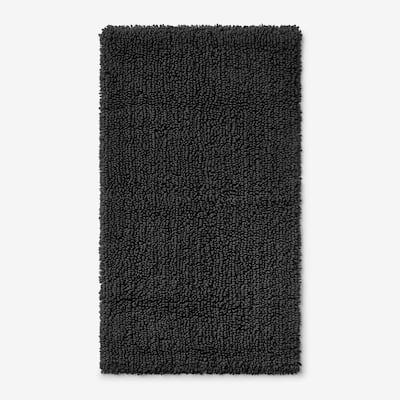 Company Cotton Chunky Loop Charcoal 24 in. x 40 in. Bath Rug