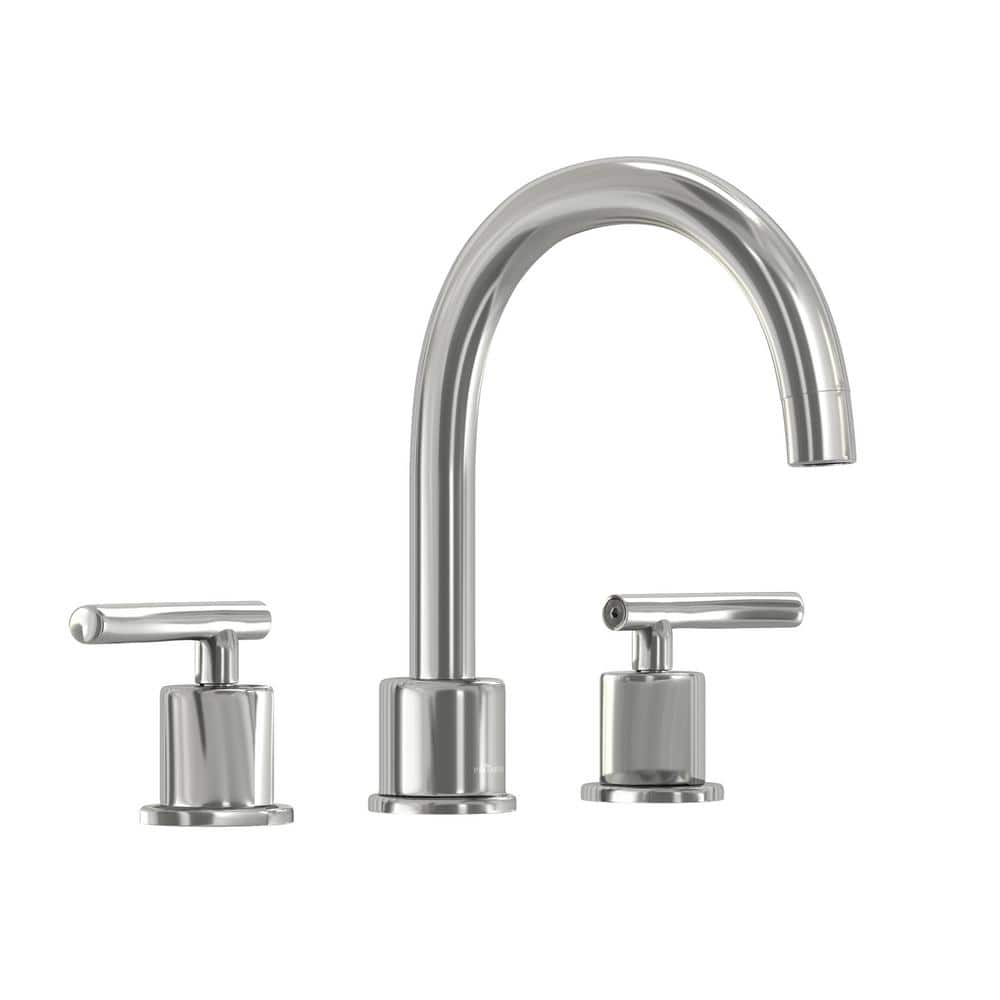 Glacier Bay Dorset 8 In Widespread 2 Handle High Arc Bathroom Faucet In Chrome Hd67731w 6a01 The Home Depot