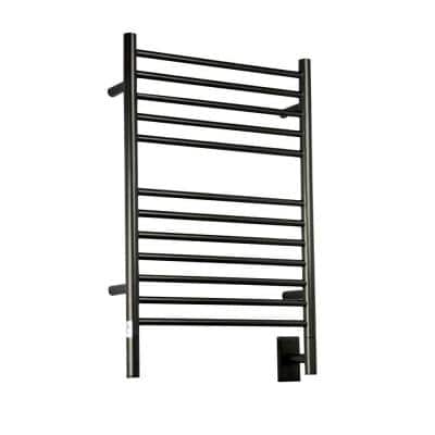 Jeeves E-Straight 12-Bar Hardwired Electric Towel Warmer in Oil Rubbed Bronze