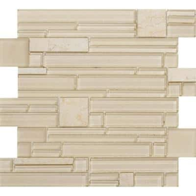 Entity Life Glossy 11.81 in. x 11.81 in. x 8mm Glass Mesh-Mounted Mosaic Tile (0.97 sq. ft.)