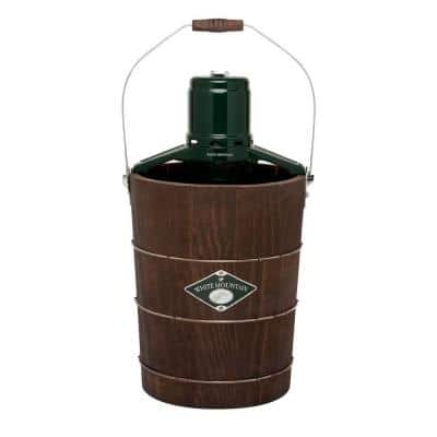 6 Qt. Green and Brown Electric Ice Cream Maker