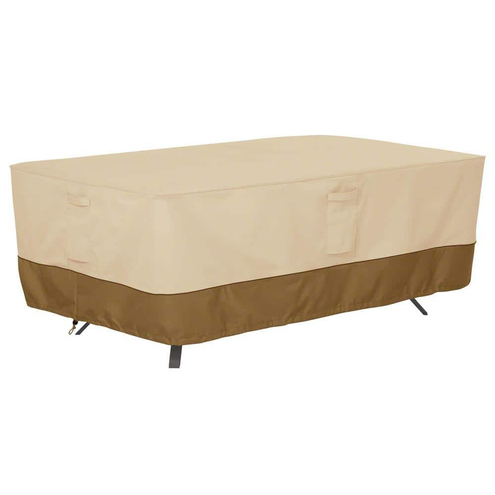 classic accessories veranda x large rectangular patio table cover 55 564 011501 00 the home depot