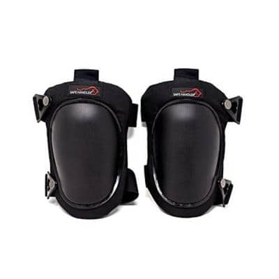 Professional Knee Pads with High Density PP Cap Knee Pads (Heavy-Duty Cap, Black)