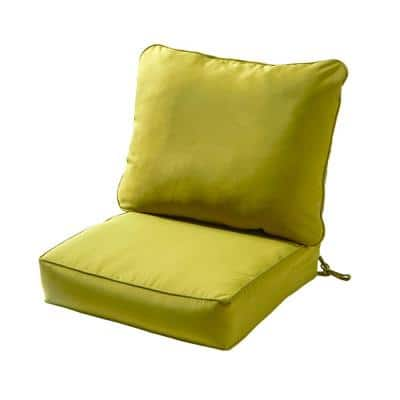 Solid Kiwi 2-Piece Deep Seating Outdoor Lounge Chair Cushion Set