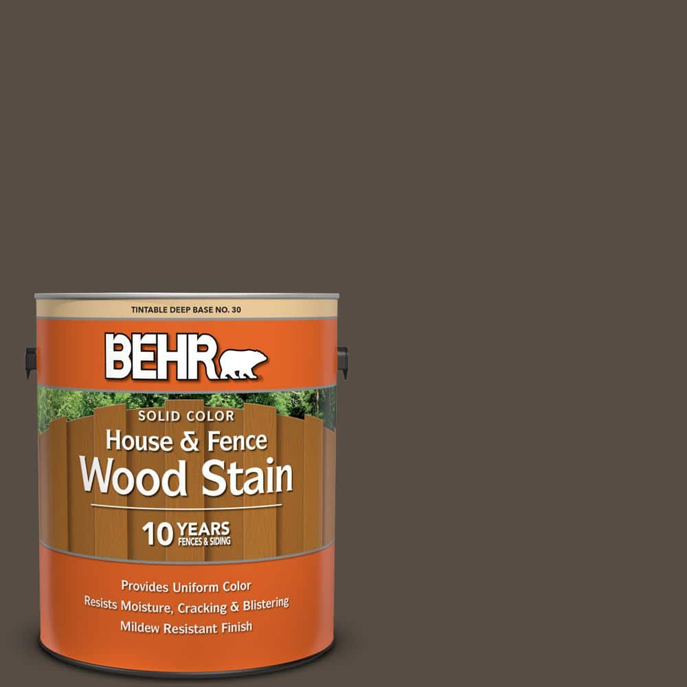 Behr 1 Gal Sc 103 Coffee Solid Color House And Fence Exterior Wood Stain 03001 The Home Depot