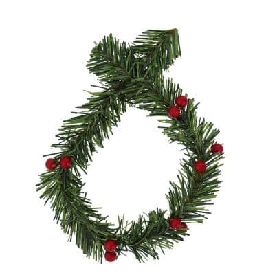 18 in. Artificial GarlandTies Noble Pine with Berries (20-Pack)