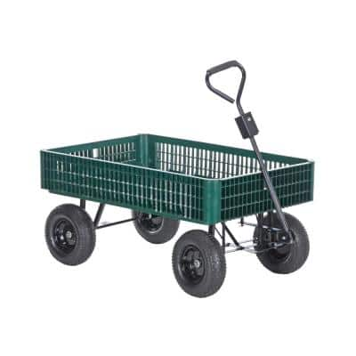 1,000 lb. 30 in. x 46 in. Landscape Cart with Plastic Crate