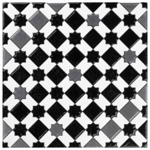 Sevillano Giralda Dark Grey 8 in. x 8 in. Ceramic Wall Tile (11.3 sq. ft. / Case)