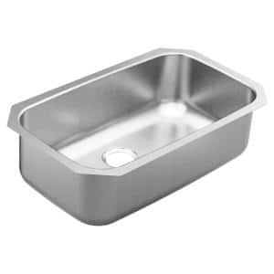 1800 Series Stainless Steel 30.5 in. Single Bowl Undermount Kitchen Sink with 9 in. Depth