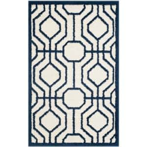 Amherst Ivory/Navy 3 ft. x 4 ft. Area Rug