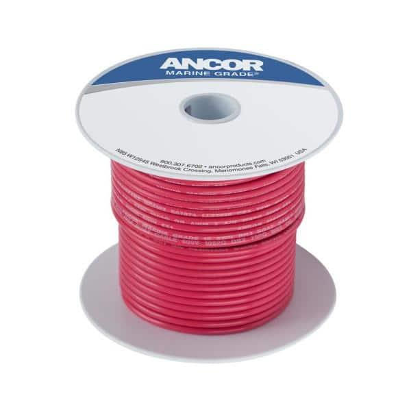 Ancor Red 2//0 AWG Tinned Copper Battery Cable 50/'