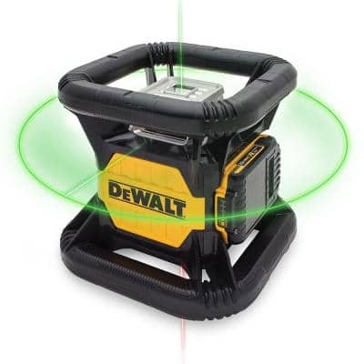 20-Volt MAX Lithium-Ion 250 ft. Gree Self-Leveling Rotary Laser Level with Battery 2Ah, Charger, & TSTAK Case