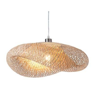 Weekend 1-Light Natural Pendant with Polyester Shade