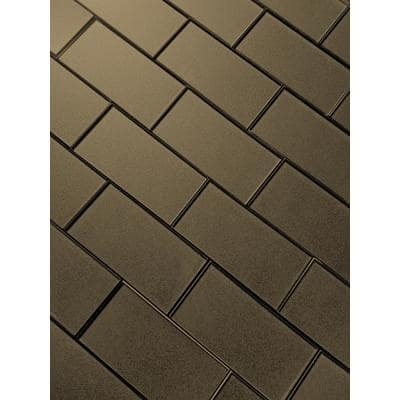 Forever Bronze 3 in. x 6 in. Glossy Metallic Look Subway Tile (14 sq. ft./Case)