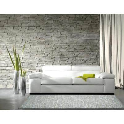 Off-White Leather 8 ft. x 8 ft. Round Area Rug