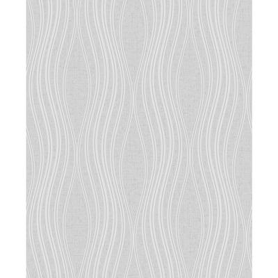 Valor Silver Wave Silver Wallpaper Sample
