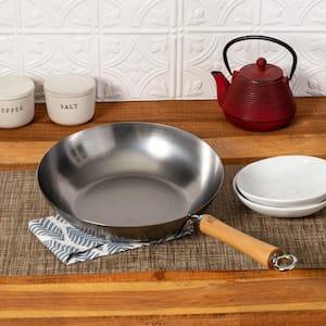 Deals on Honey-Can-Do Joyce Chen 12 in. Silver Carbon Steel Stir-Fry Pan