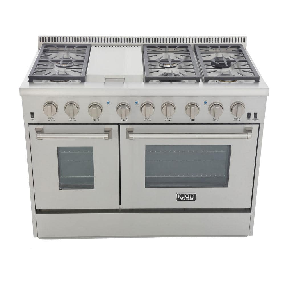 Appliances Cooktops ghdonat.com 48 inch Classic Silver Knobs Kucht ...