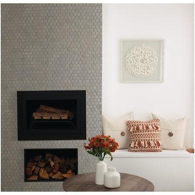 Glenwood Fog 10 in. x 12 in. x 6.35mm Glazed Ceramic Mosaic Tile