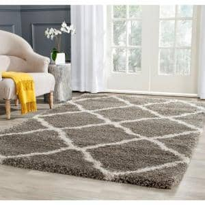 Belize Shag Gray/Taupe 9 ft. x 12 ft. Area Rug