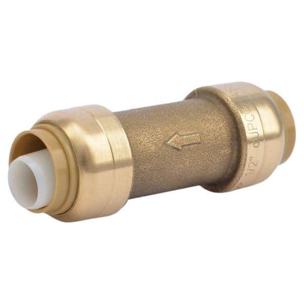 """Pipe Check Valve 1//2/"""" BSPP Male Plated Brass Air Water Fuel Fitting P-#E3"""