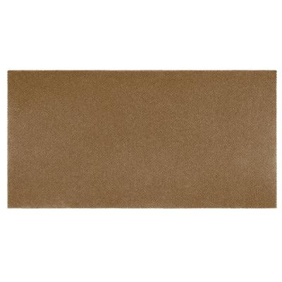 Recycled Rugged All-Weather Textile 3 ft. x 10 ft. Beige Entry and Garage Mat