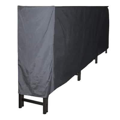 12 ft. Polyester Full-Length Firewood Rack Cover