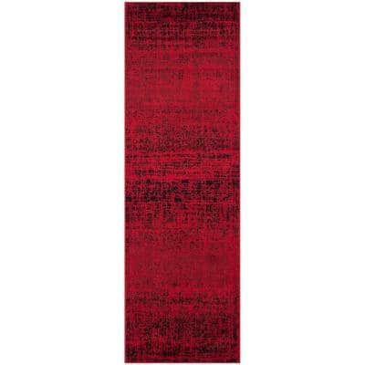 Adirondack Red/Black 3 ft. x 20 ft. Runner Rug