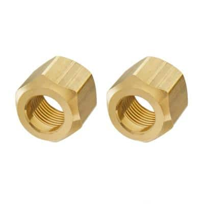 5/8 in. Flare Brass Nut Fitting (2-Pack)