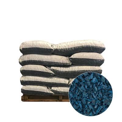 37.5 cu. ft. Blue Rubber Mulch (25 Bags)