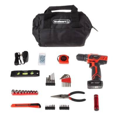 20-Volt Lithium-Ion Cordless 3/8 in. Power Drill (122-Piece)