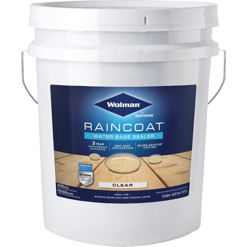 5 gal. Raincoat Clear Water-Based Water Repellent Sealer